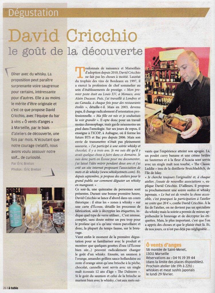 Article A TABLE n°22